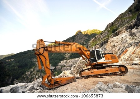 SCRAPER FOR MARBLE QUARRY - stock photo