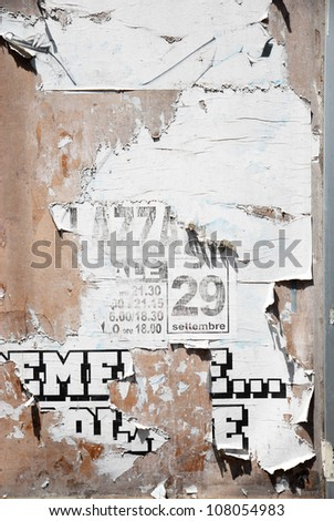 Scratched advertising - stock photo