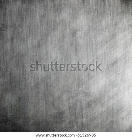 Scratched aluminum metal plate - stock photo