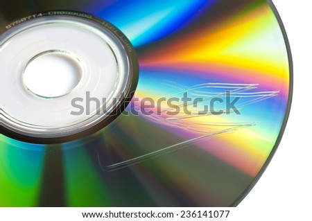 Scratched cd or dvd close up, data loss concept - stock photo