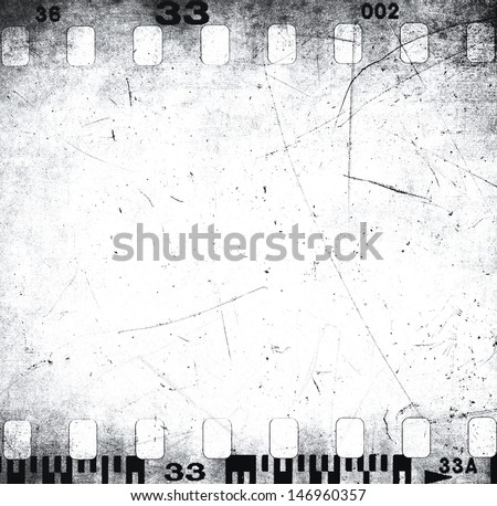 Scratched filmstrip texture - stock photo
