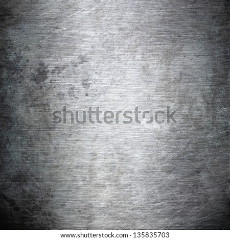 scratched grunge metal plating ;  industrial  abstract background - stock photo
