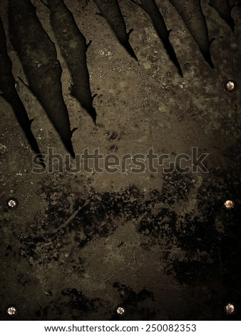 scratched metal background  - stock photo