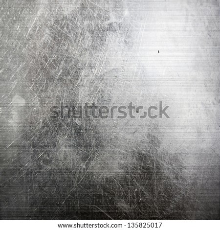 scratched metal texture ; industrial background - stock photo