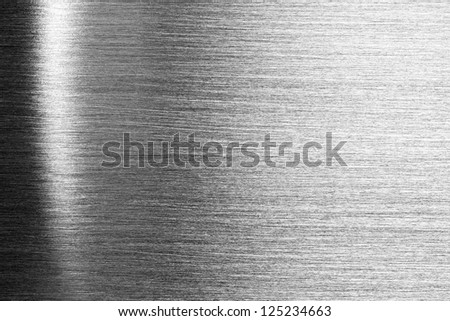 Scratched shiny steel metal texture - stock photo
