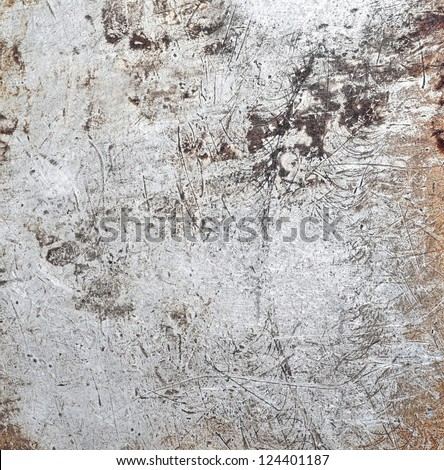 Scratched steel texture - stock photo