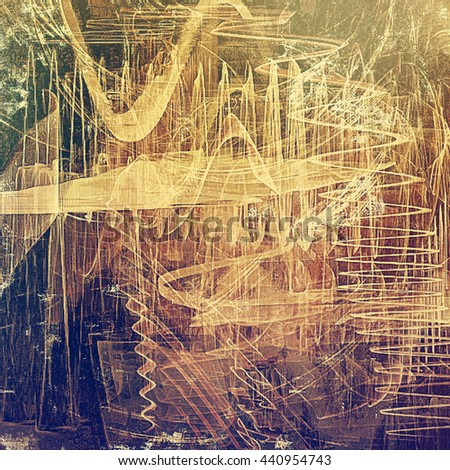 Scratched vintage colorful background, designed grunge texture. With different color patterns: yellow (beige); brown; blue; gray; purple (violet); pink - stock photo