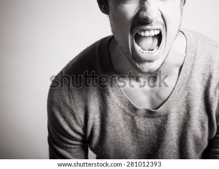Scream your heart out! - stock photo