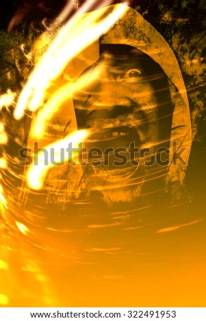 Screaming From Hell,Abstract Horror Background For Halloween Concept or Book Cover - stock photo