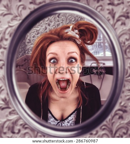 Screaming woman - stock photo