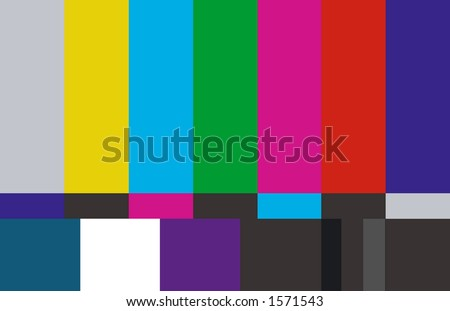 Screen shot for a television test page - stock photo