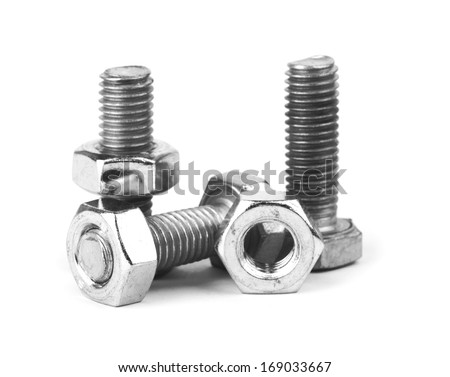 screw isolated on the white background - stock photo