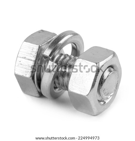 screw isolated on the white backgrounds  - stock photo