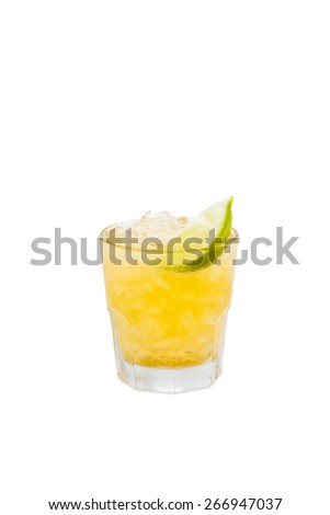 Screwdriver cocktail drink isolated with clipping path - stock photo