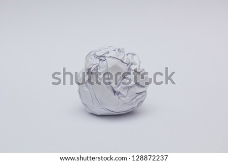 Screwed Up Paper Ball - stock photo