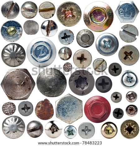 Screws collection - stock photo