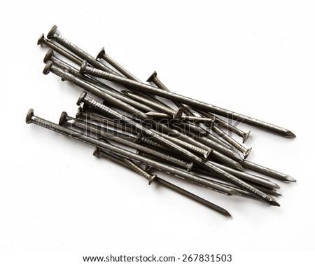 Screws isolated on white background - stock photo