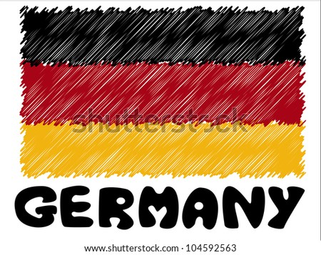 scribble sketch of Germany flag - stock photo