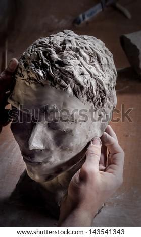 Sculptor Head - stock photo