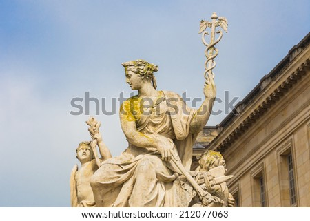 Sculpture at Versailles Palace in Paris, France - stock photo