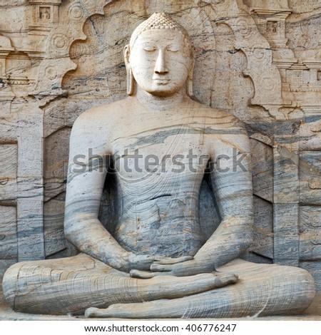sculpture Buddha - stock photo