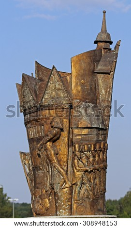 sculpture in blomberg  - stock photo