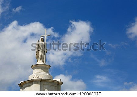 Sculpture in St Louis Cemetery No. 1, New Orleans, Louisiana - stock photo