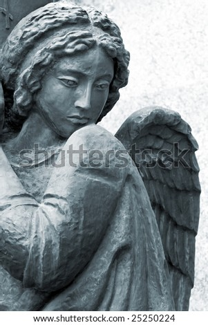 sculpture of angel - stock photo
