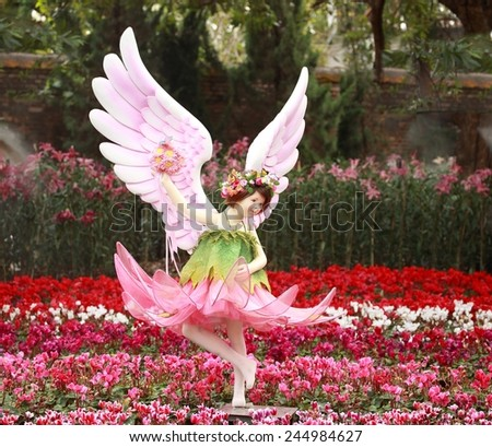 Sculpture of angel in Park  - stock photo