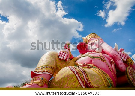 Sculpture of Ganesh - stock photo