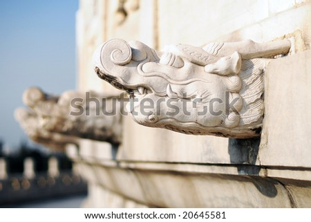 Sculpture of Temple of Heaven (TIAN TAN) - Wonder of Chinese Architecture - stock photo