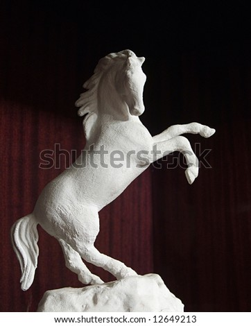 Sculpture of the horse - stock photo