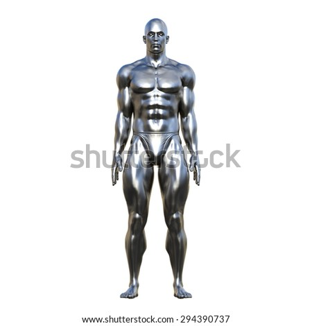 Sculpture of the man - stock photo