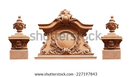 sculpture on a white background. - stock photo