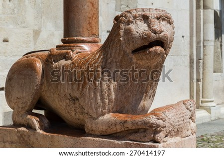 sculptured animals - stock photo