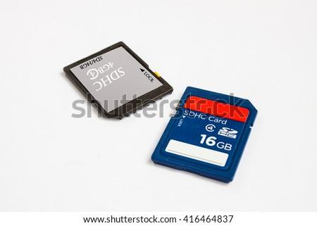 sd memory card  device portable - stock photo