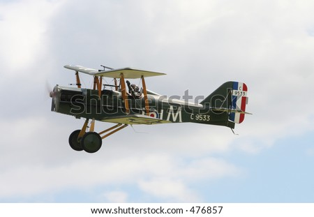 SE5A biplane from first world war - stock photo