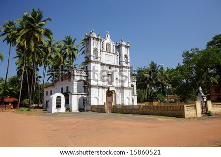 Se Cathedral in Old Goa - stock photo