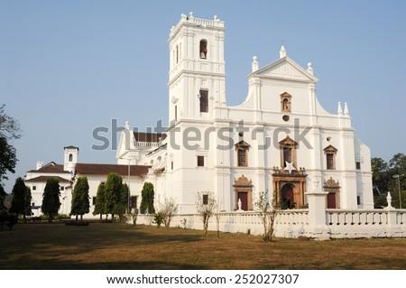 Se Cathedral in Old Goa , Goa India - stock photo