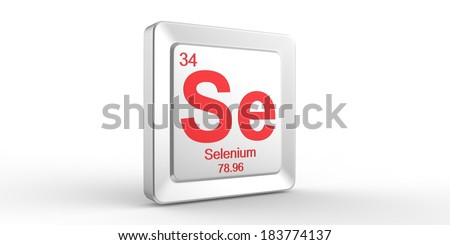 Se symbol 34 material for Selenium chemical element of the periodic table  - stock photo
