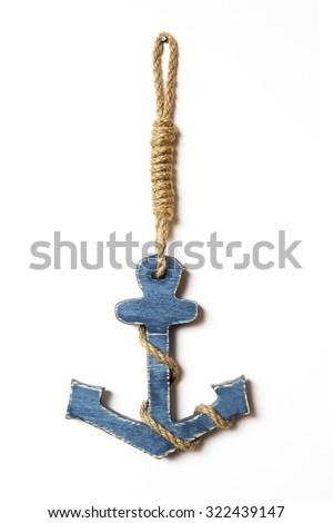 sea anchor decoration - stock photo
