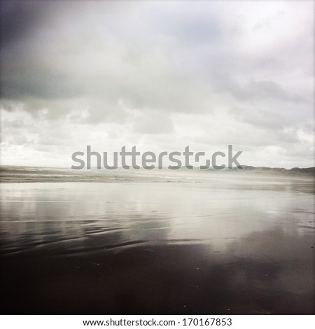 Sea and coastline, New Zealand - stock photo