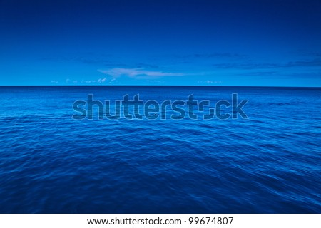 Sea and ship - stock photo