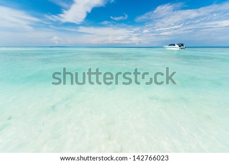 Sea and sky at Similan island, Andaman sea, Thailand - stock photo