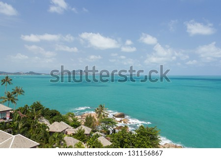 Sea and Sky from Koh samui view point at samui island, Surat Thani Province,thailand - stock photo