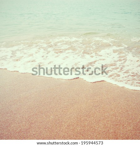 Sea beach with retro filter effect - stock photo