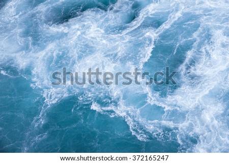 Sea blue fresh ocean water - stock photo