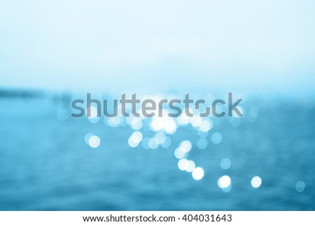 Sea bokeh in sunlight, abstract background - stock photo