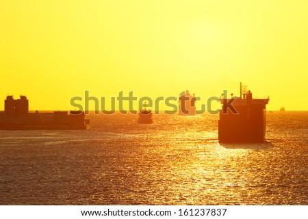 Sea cargo transportation - stock photo