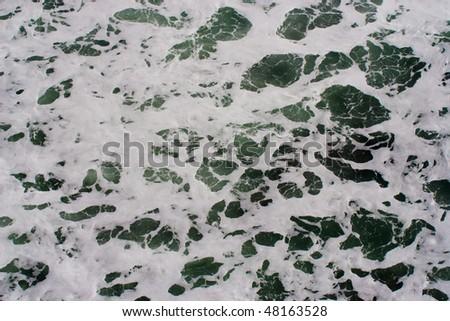Sea foam texture - stock photo